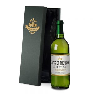Personalised Wedding French White Wine & Silk Lined Gift Box
