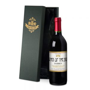 Personalised Wedding Red Wine & Silk Lined Gift Box