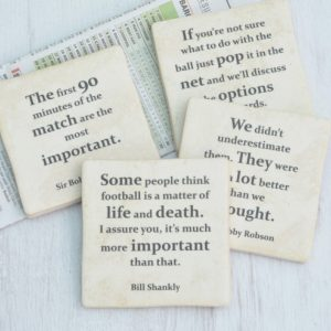 Set Of Four Football Quote Coasters