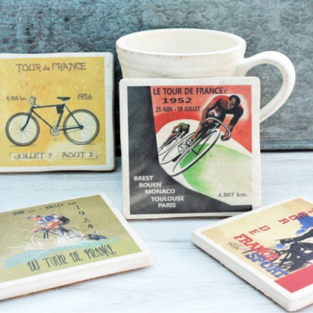 Tour De France Set Of Four Coasters