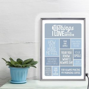Personalised 10 Things I Love About My Boyfriend Light Box