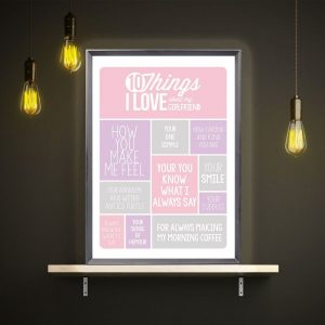 Personalised 10 Things I Love About My Girlfriend Light Box