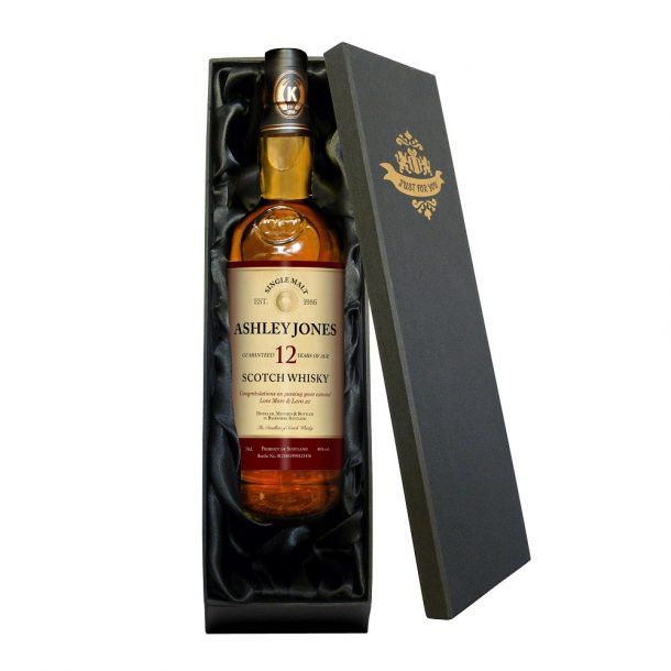 Personalised 12 Year Old Malt Whisky & Gift Box
