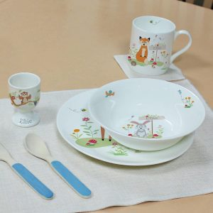 Personalised Child's Woodland Breakfast Set