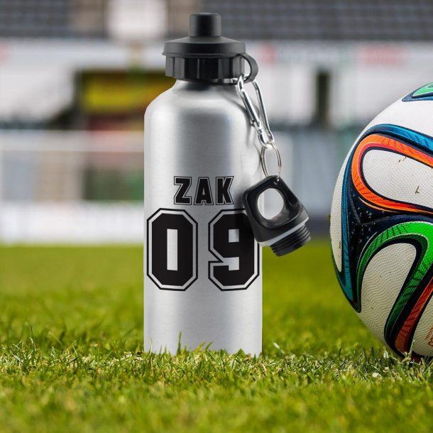 Personalised Football Number Drinks Bottle