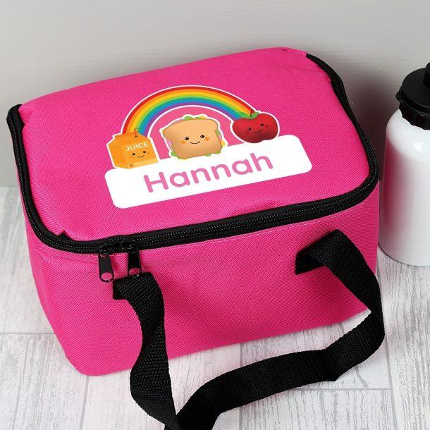 Personalised Healthy Eating Pink Lunch Bag