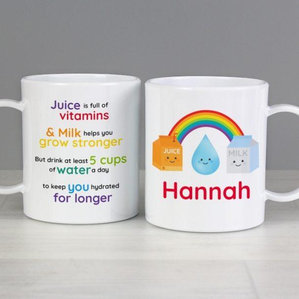Personalised Healthy Eating Plastic Mug