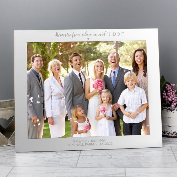 Personalised I Do 10x8 Aluminium Photo Frame