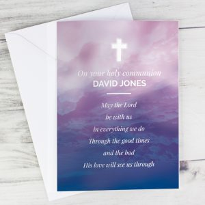Personalised In Loving Memory Cross Cards