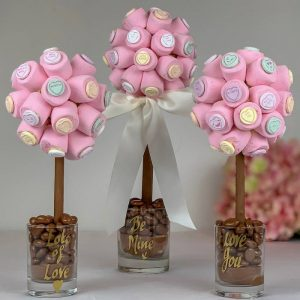 Personalised Marshmallow Love Heart Sweet Trees