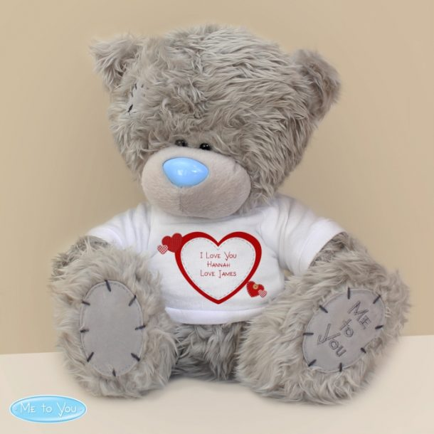 Personalised Me To You Bear & Hearts T-Shirt