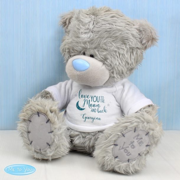 Personalised Me To You Bear With 'To the Moon & Back' T-Shirt