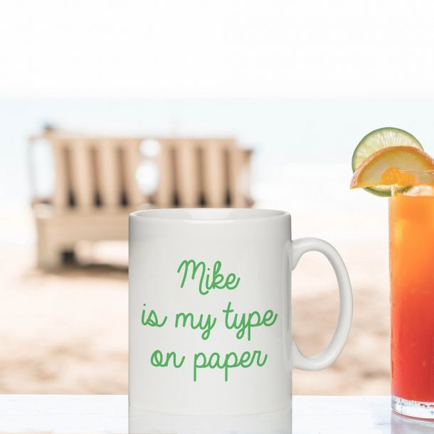 Personalised My Type On Paper Love Island inspired Mug