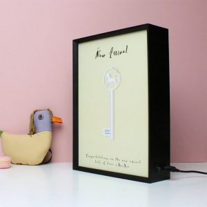 Personalised New Baby Key Light Box