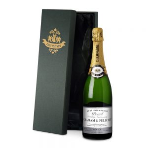 Personalised Pearl Anniversary Champagne & Silk Lined Box