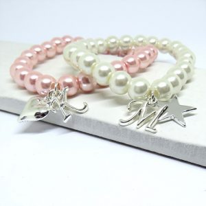 Personalised Pearly Charm Bracelet