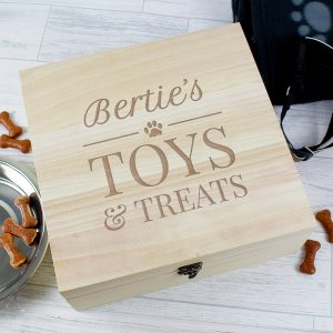 Personalised Pet Treats Wooden Box