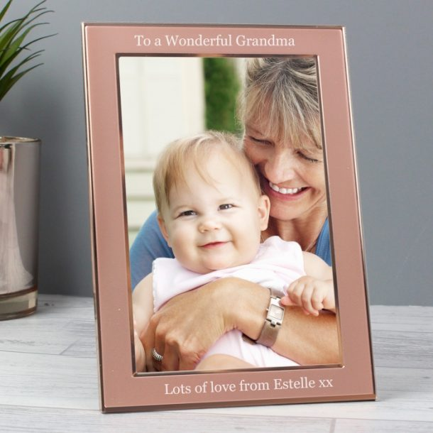 Personalised Rose Gold 4x6 Photo Frame
