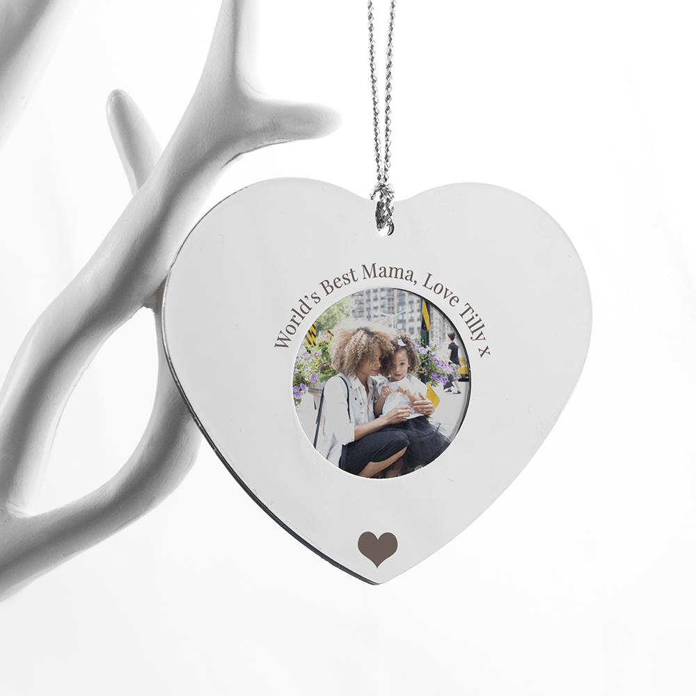 Personalised Silver Hanging Heart Frame | Love My Gifts