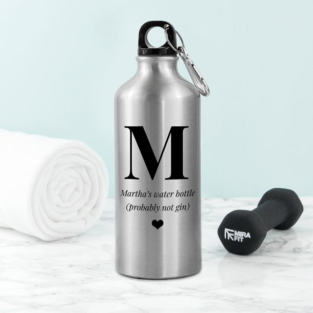 Personalised Silver Water Bottle