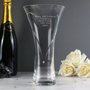 Personalised Swarovski Element Heart Vase