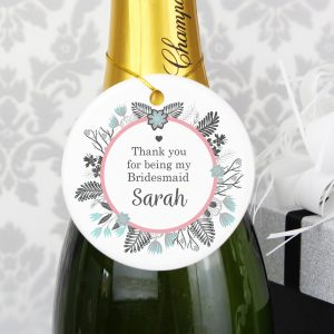 Personalised Teal & Pink Wedding Decoration