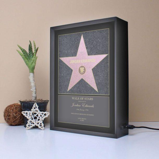 Personalised Walk Of Stars Light Box
