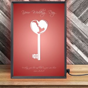 Personalised Wedding Key Light Box