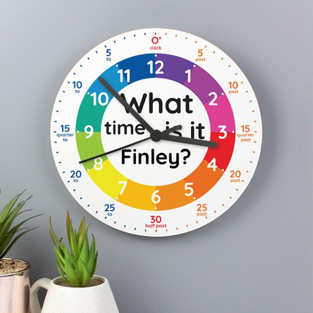 Personalised 'What time is it' Wooden Clock