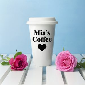 Personalised White Travel Mug