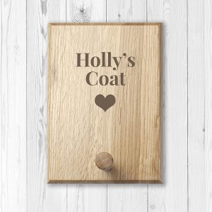 Personalised Wooden Coat Peg Hook