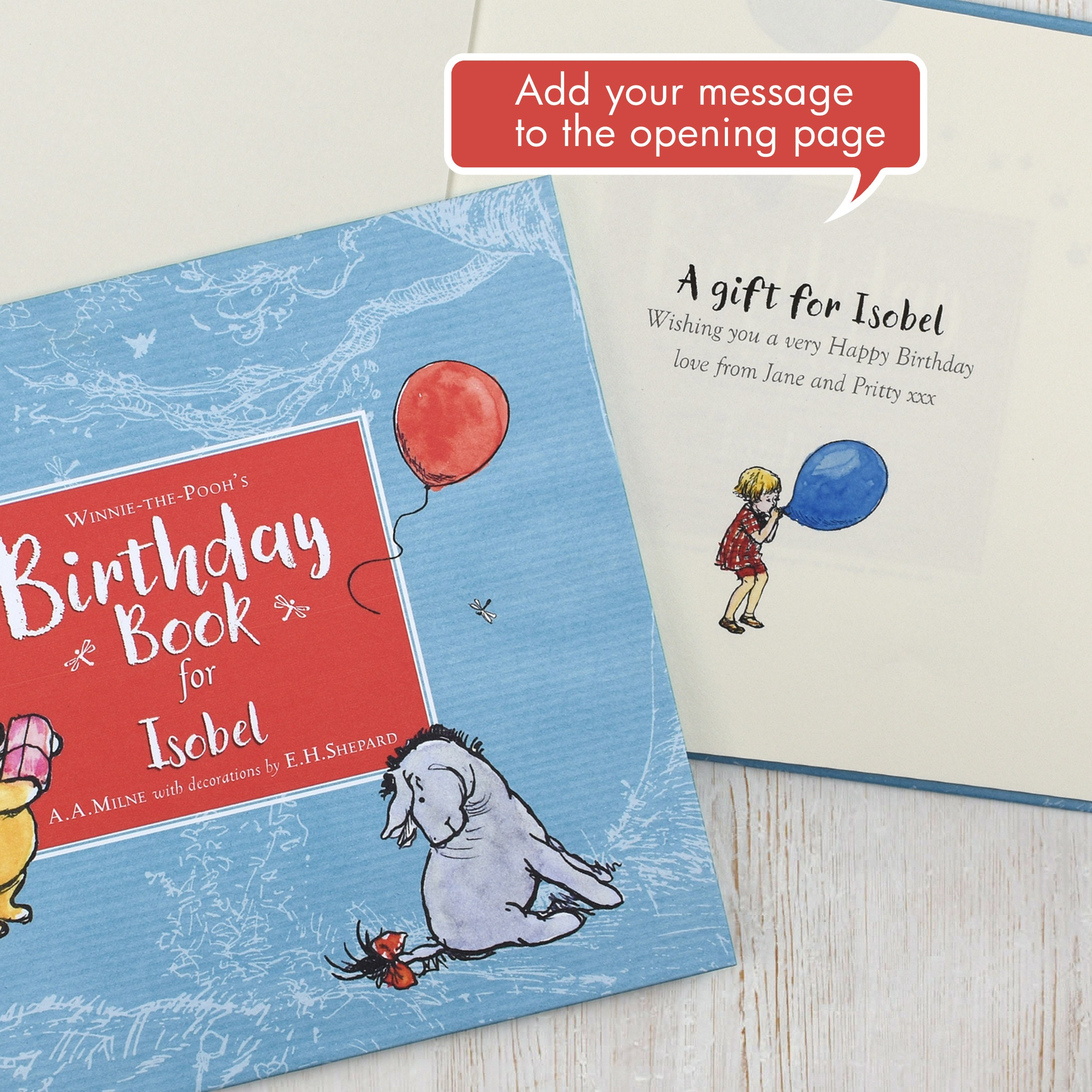 personalised winnie the pooh s birthday book love my gifts