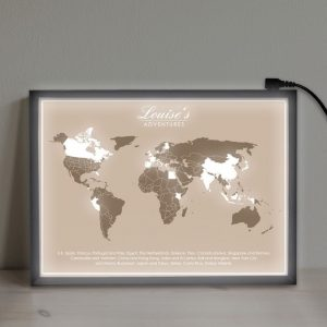 Personalised Adventures Map Light Box