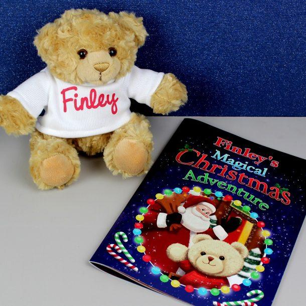 Personalised Christmas Adventure Book & Bear