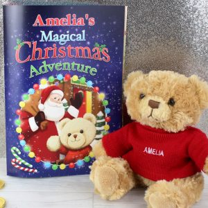Personalised Christmas Adventure Book & Bear