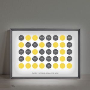 Personalised Circles 21st Birthday Light Box
