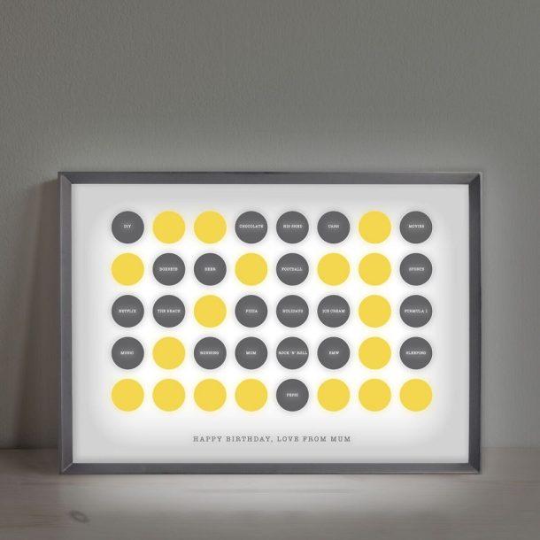 Personalised Circles 21st Birthday Light Box