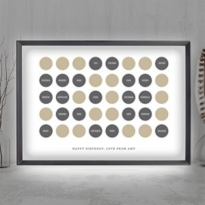 Personalised Circles 30th Birthday Light Box