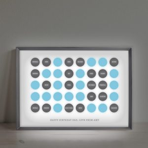 Personalised Circles 40th Birthday Light Box