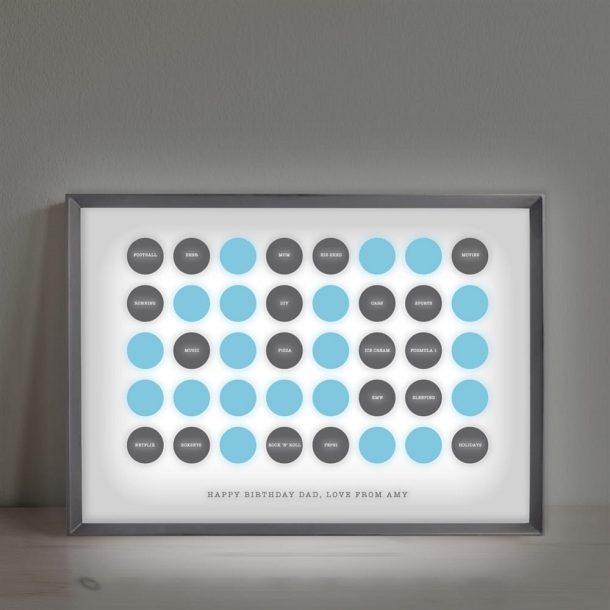 Personalised Circles 40th Birthday Light Box