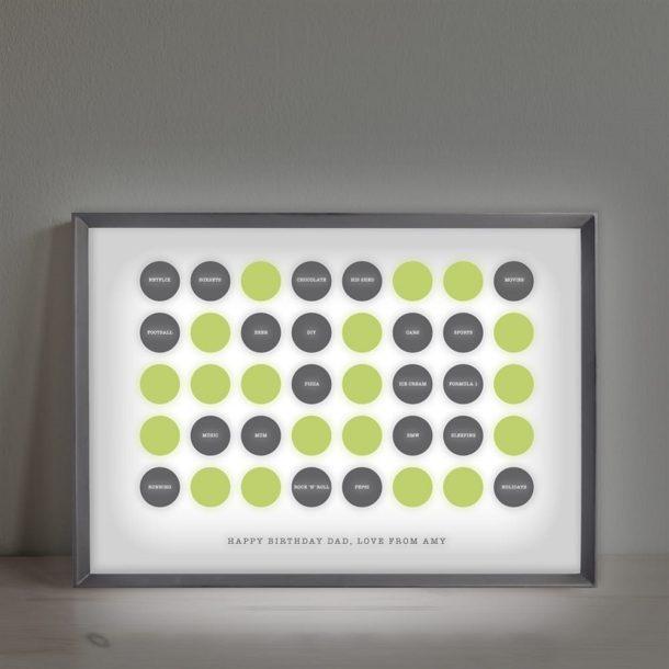 Personalised Circles 60th Birthday Light Box