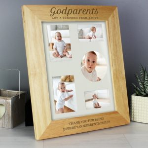 Personalised Godparents Wooden 8x10 Photo Frame