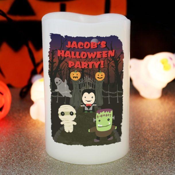 Personalised Halloween LED Candle