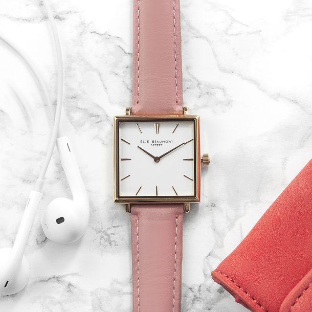 Personalised Ladies Elie Beaumont Leather Watch