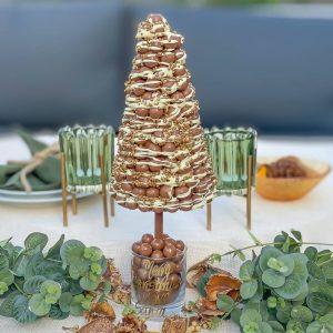 Personalised Malteser White Drizzle Christmas Sweet Trees