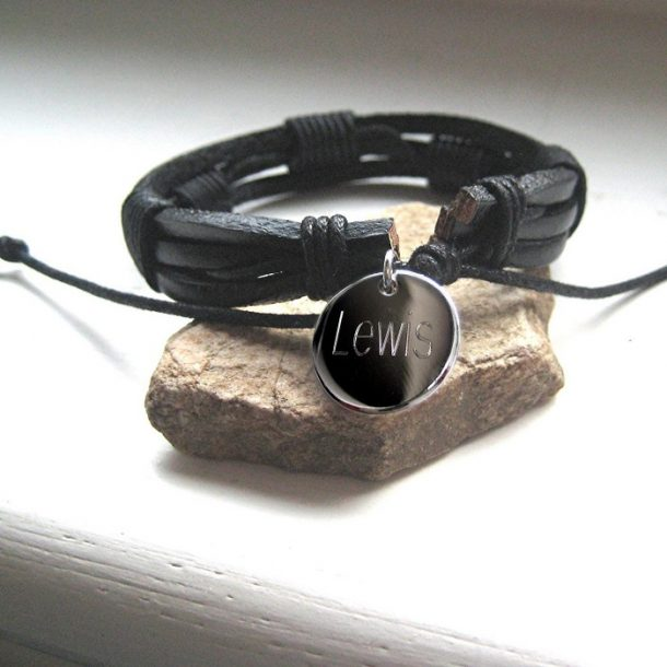 Personalised Mens Bondi Leather Bracelet
