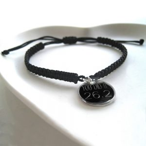 Personalised Men's Franklin Braided Bracelet & Disc