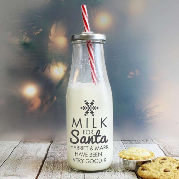 Personalised Milk Bottle For Santa