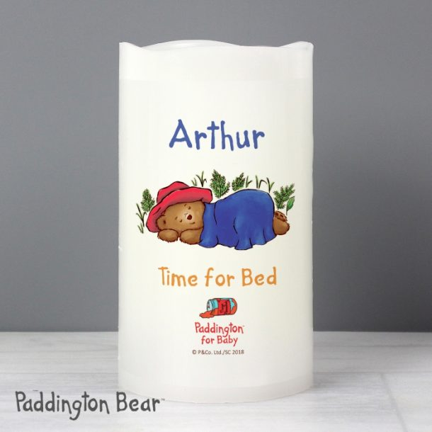 Personalised Paddington Bear Baby LED Candle