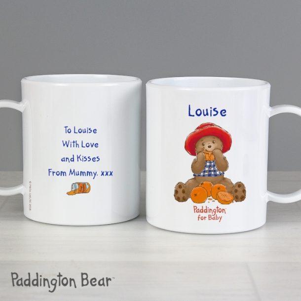 Personalised Paddington Bear Baby Plastic Mug